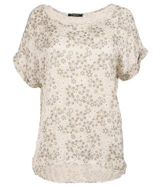 Gemma Ricceri Shirt beige silk touch Fiep