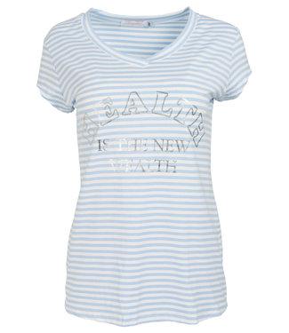 Gemma Ricceri Shirt lichtblauw streep Amber