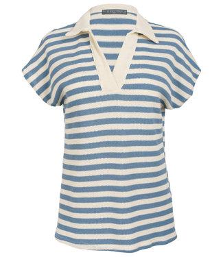 Gemma Ricceri Shirt lichtblauw streep Filou