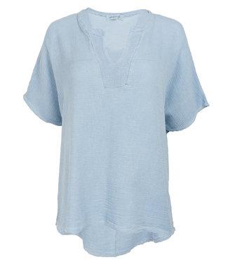 Azzurro Shirt jeansblauw Katie