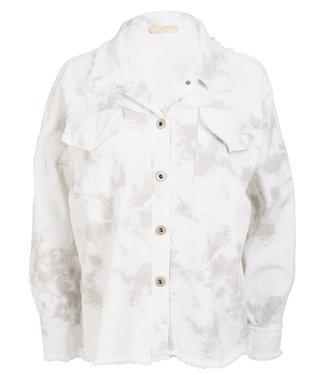 Gemma Ricceri Jacket wit dip dye Nela