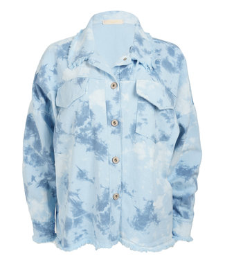 Gemma Ricceri Jacket lichtblauw dip dye Nela