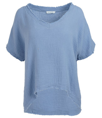 Azzurro Shirt jeansblauw Trudy