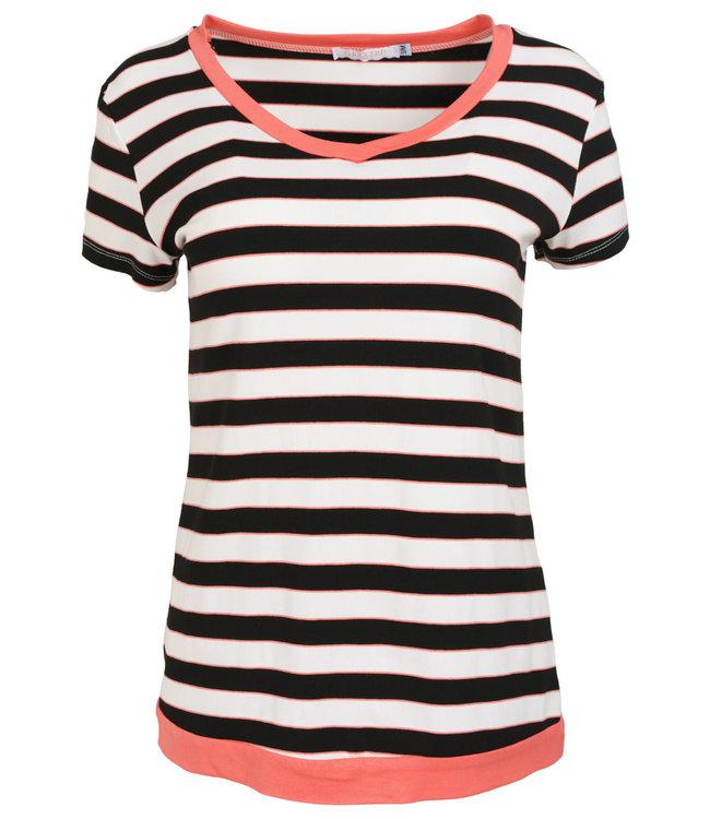 Gemma Ricceri Shirt koraal streep Coco