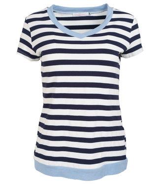 Gemma Ricceri Shirt lichtblauw streep Coco