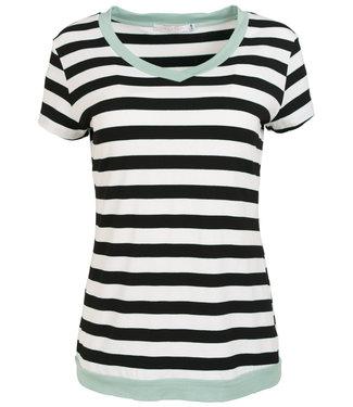 Gemma Ricceri Shirt mintgroen streep Coco