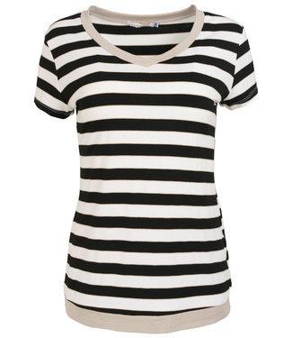 Gemma Ricceri Shirt beige streep Coco