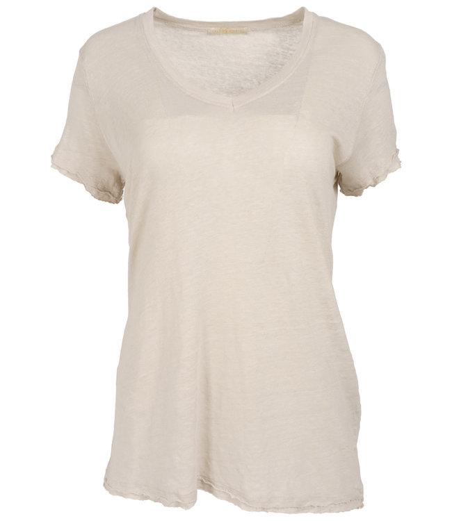 Gemma Ricceri Shirt beige linnen Frenske