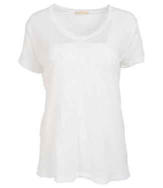 Gemma Ricceri Shirt wit linnen Frenske