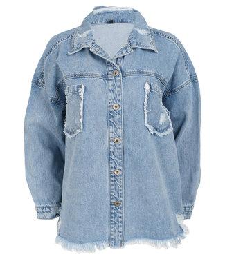 Melly&Co Jacket blauw spijker Eden