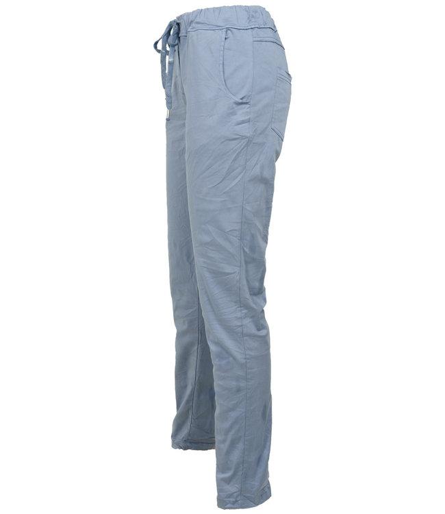 Gemma Ricceri Broek tencel jeansblauw Donna