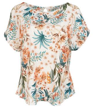 Vera Jo Shirt wit/oranje Annemijn