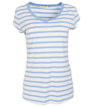 Gemma Ricceri Shirt lichtblauw streep Dana