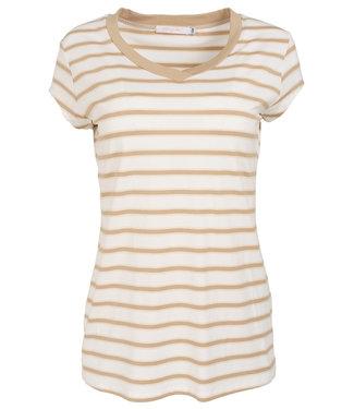 Gemma Ricceri Shirt beige streep Dana