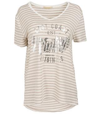 Gemma Ricceri Shirt beige streep Ank