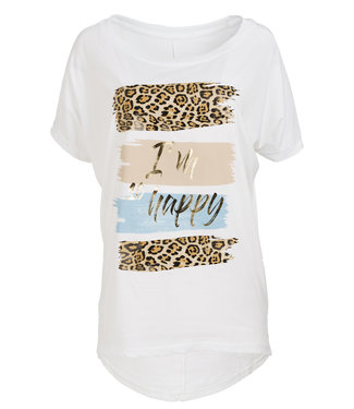 Gemma Ricceri Shirt wit/lichtblauw Donna