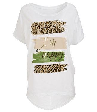 Gemma Ricceri Shirt wit/legergroen Donna
