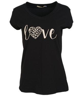 Gemma Ricceri Shirt zwart/beige love