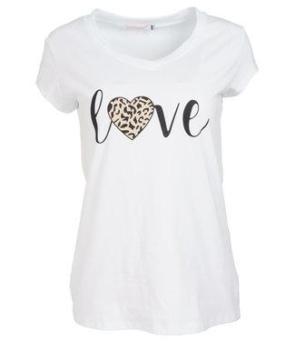 Gemma Ricceri Shirt wit/zwart love