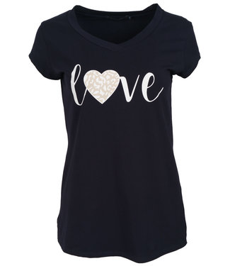 Gemma Ricceri Shirt donkerblauw love