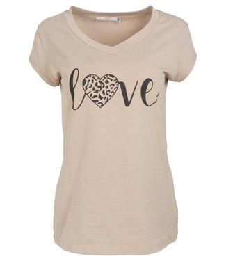Gemma Ricceri Shirt beige/zwart Love