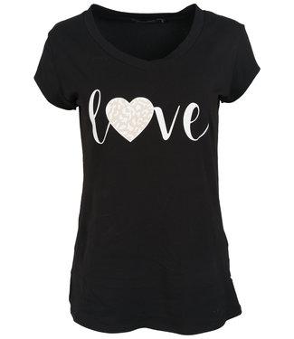 Gemma Ricceri Shirt zwart/wit Love
