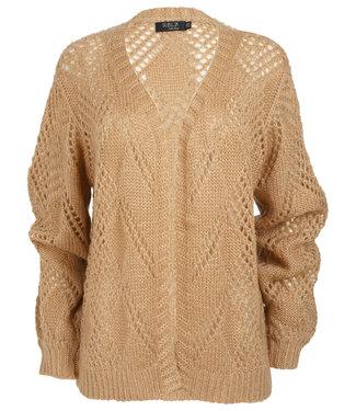 Rebelz Collection Vest camel ajour Marieke