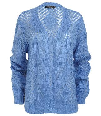 Rebelz Collection Vest blauw ajour Marieke
