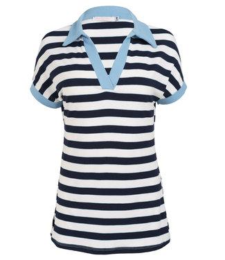 Gemma Ricceri Shirt lichtblauw streep Paola