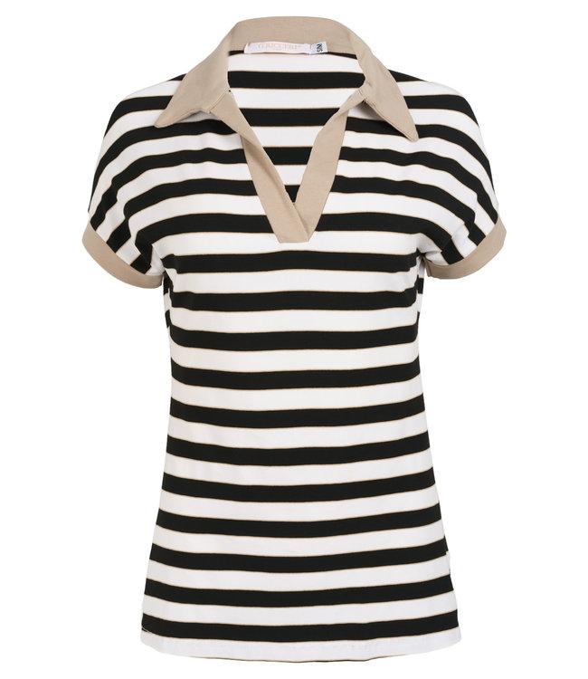 Gemma Ricceri Shirt beige streep Paola