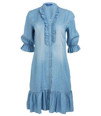 Wannahavesfashion Jurk jeansblauw tencel Robine
