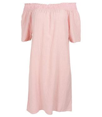 Rebelz Collection Jurk roze linnen Matilde