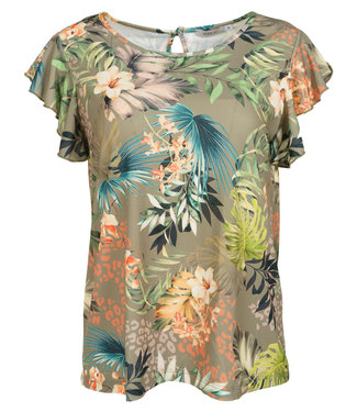 Vera Jo Shirt groen print Mieke