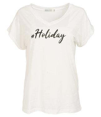 Azzurro Shirt wit/zwart Holiday