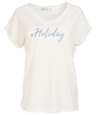 Azzurro Shirt wit/jeansblauw Holiday