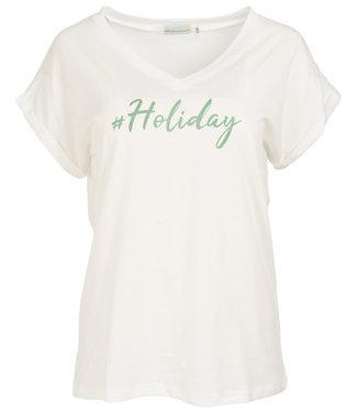 Azzurro Shirt wit/groen Holiday