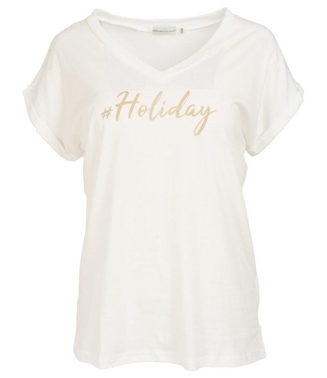 Azzurro Shirt wit/beige Holiday