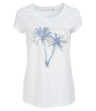 Gemma Ricceri Shirt wit/jeansblauw Sunny