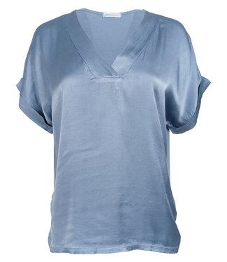 Azzurro Shirt jeansblauw kari