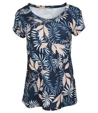 Gemma Ricceri Shirt blauw print Cita