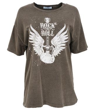Azzurro Shirt grijs/wit Rock roll