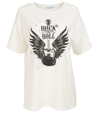 Azzurro Shirt wit/zwart Rock roll