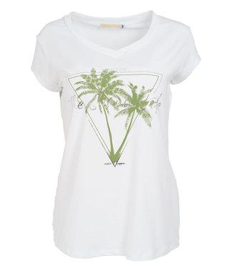 Gemma Ricceri Shirt wit/groen Sunny