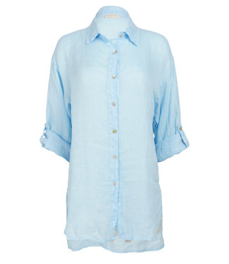 Gemma Ricceri Blouse blauw linnen Jose
