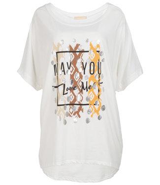 Gemma Ricceri Shirt wit/camel Lindy