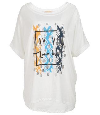 Gemma Ricceri Shirt wit/blauw Lindy