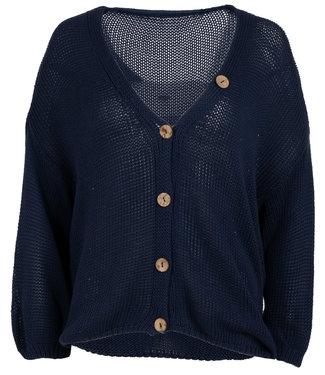 Wannahavesfashion Vest donkerblauw Marjolein