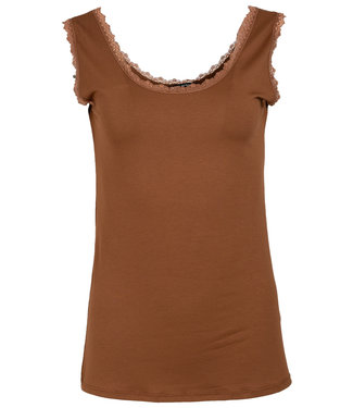 Wannahavesfashion Top roestbruin Estelle