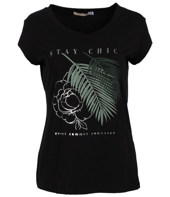 Gemma Ricceri Shirt zwart/groen Veerle
