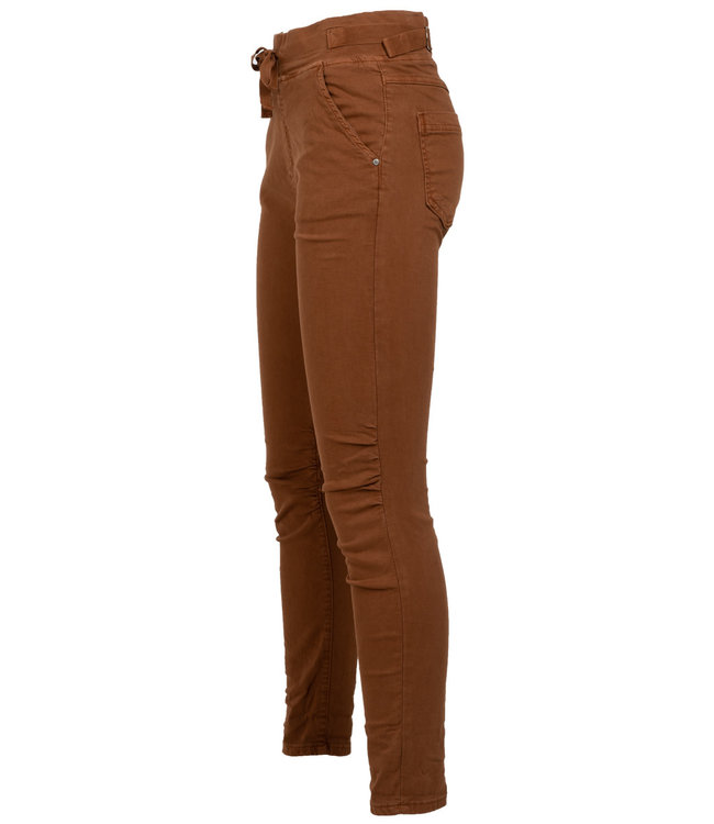 Melly&Co Jog jeans roestbruin Mc
